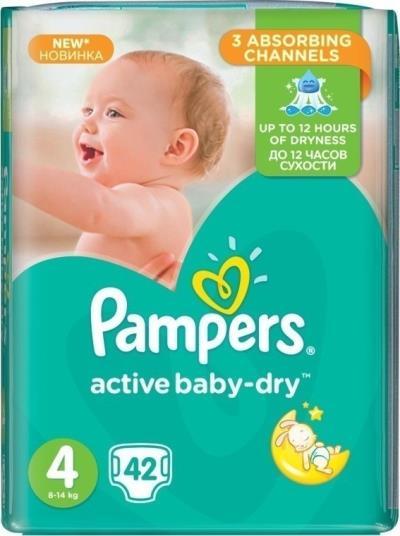 d90d9d594c6 Πάνες Pampers Active Baby-Dry Μέγεθος 4 (Maxi) 8-14Kg, 42τεμ