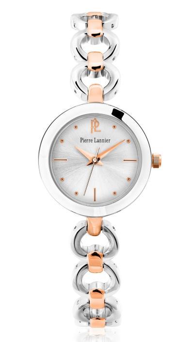 Ρολόι Pierre Lannier με ροζ χρυσό-ασημί μπρασελέ 048L721 9c5d96338d8