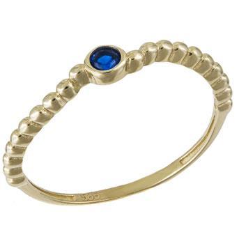 Στριφτό δαχτυλίδι με μπλε πέτρα Κ14 031605 031605 Χρυσός 14 Καράτια 5896c66ad90
