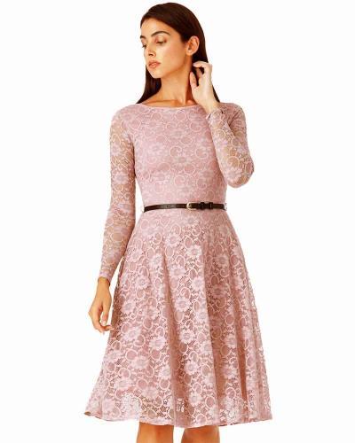 6a849209bb0 timeless chic midi φόρεμα δαντέλα κλος σε dusky λιλά