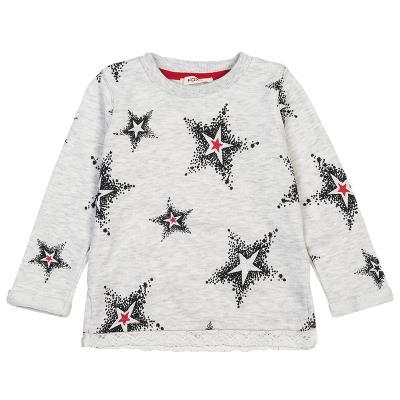 Μπλούζα με μοτίβο αστέρια και λεπτομέρεια δαντέλας (Κορίτσι 12 μηνών-3 ετών)  002 032b49f79cb