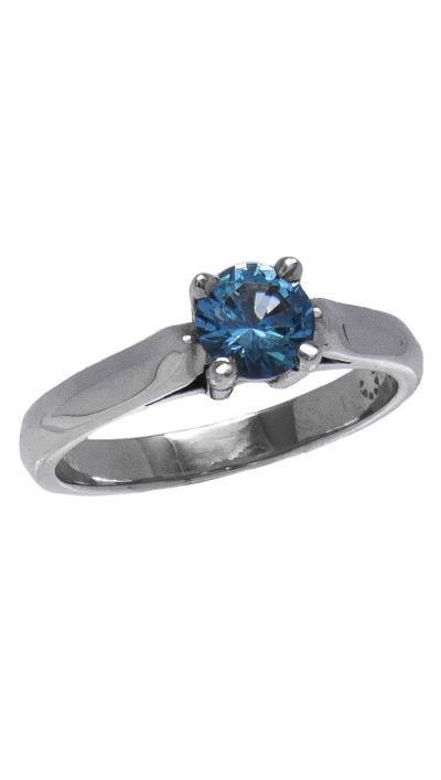 Δαχτυλίδι μονόπετρο λευκόχρυσο 14 καράτια με γαλάζιο ζιργκόν 6 χιλιοστά 6072b5ef583