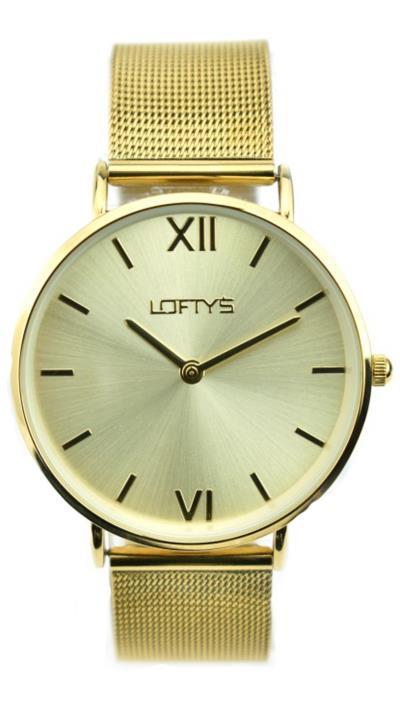 5f326d99b5 Ρολόι Loftys Vintage με χρυσό μπρασελέ και χρυσό καντράν Y3406-33