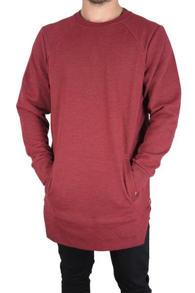Minimarket longline φούτερ μπλούζα μπορντό μελανζέ - mife94 0fd868dd3f5