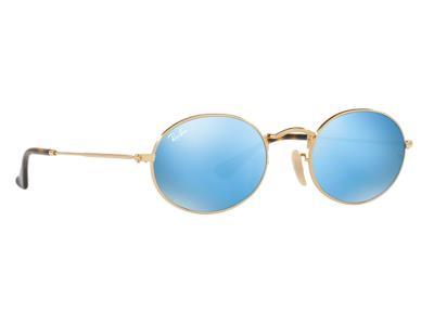 Γυαλιά ηλίου Ray-Ban Oval Metal RB 3547N 001 9O Χρυσό Ανοιχτός Μπλε  Καθρέφτης(00 38fbfce80f4