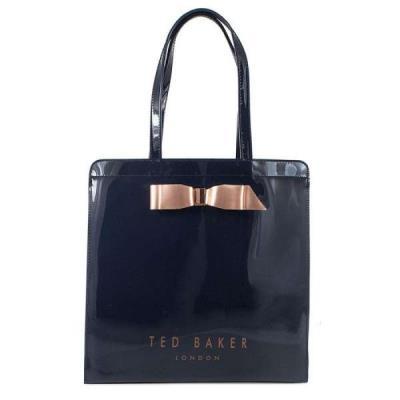 d41e6d3479 Ted Baker Μπλε Γυναικεία Τσάντα Ώμου Almacon Bow Detail Large Icon Bag  151041 Te