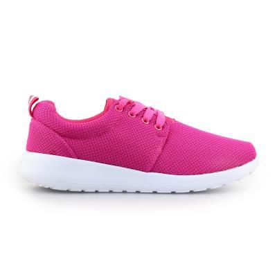 Γυναικεία sneakers με γκοφρέ ύφασμα Ροζ d75befb7609