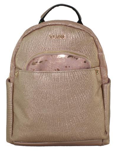 89c60c952b Γυναικεία τσάντα σακίδιο Verde 16-0004996 σε ροζ χρυσό χρώμα εως 6 άτοκες  δόσεις