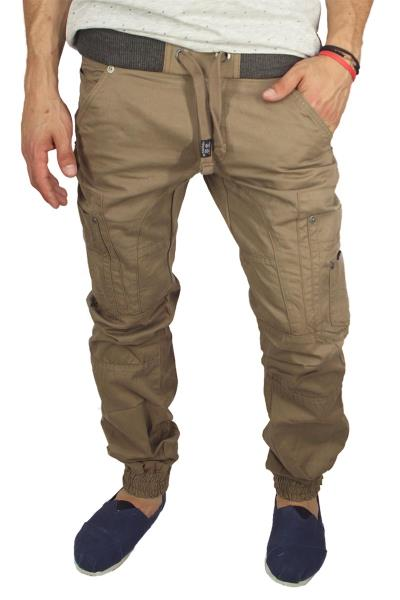 59aab5287c7c Ανδρικό jogger style chino παντελόνι μπεζ - 603750-bei