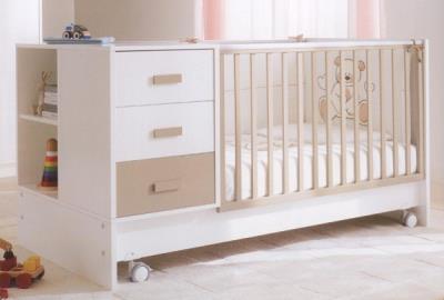 e7e700fa20f Πολυμορφικό βρεφικό κρεβάτι Pali Zoom transformabile White/Sand μαζί με  στρώμα C