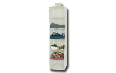 Jocca Διοργανωτής ντουλάπας με 6 ράφια σε λευκό χρώμα 2e4eaeeae1c