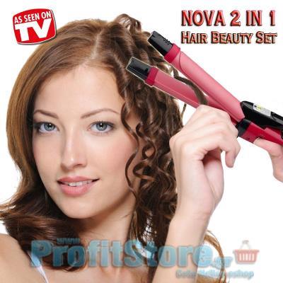 Ψαλίδι   Πρέσα Μαλλιών σε μια συσκευή - Nova 2 in 1 Hair Beauty Set  NHC-1818SC 20dc1b85a29