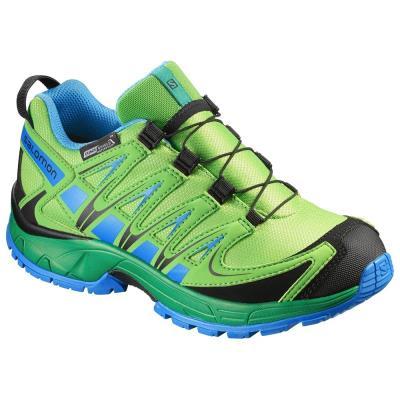 9ce9c8d6c2d Αδιάβροχα παιδικά αθλητικά παπούτσια Salomon Xa Pro 3D CSWP J Tonic Green  390434
