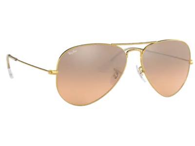 70d7bdf949 Γυαλιά ηλίου Rayban Aviator Classic 3025 001 3E Χρυσό Καφέ-Ροζ Ασημί  Καθρέφτης(0