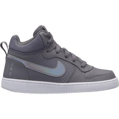 0365262216f NIKE COURT BOROUGH MID (GS) Nike ΓΚΡΙ
