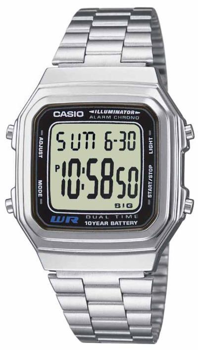 Ρολόι Casio ψηφιακό με ασημί μπρασελέ A-178WEA-1AES adb019e7938