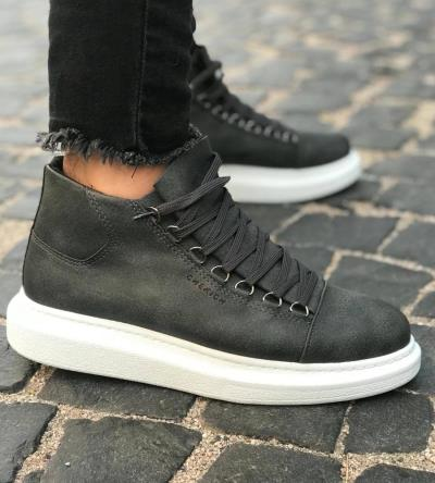 aaef0aa468f Μποτάκια Sneakers ανδρικά double C258
