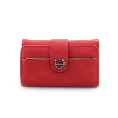 3b9cdec485 Γυναικεία πορτοφόλια με κλείσιμο με λουράκι Κόκκινο