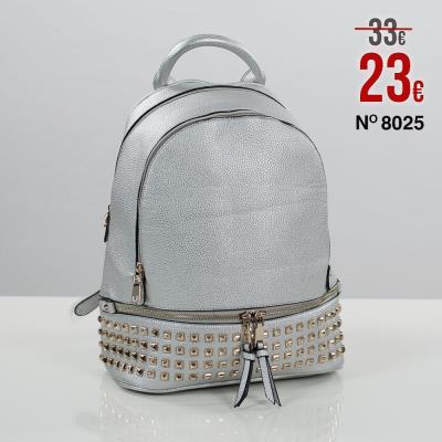 1984379fe86 Τσάντα σακίδιο πλάτης με τρουκς τύπου ΜΚ χρώμα ασημί