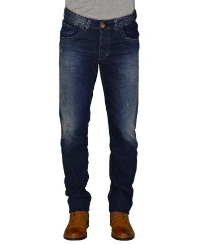 f30f94ef7140 Ανδρικό τζην παντελόνι Trial μπλε με ξεβάμματα Marvin