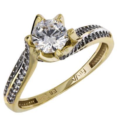 Χρυσό δαχτυλίδι μονόπετρο Κ14 024916 024916 Χρυσός 14 Καράτια b24d97d2b9c