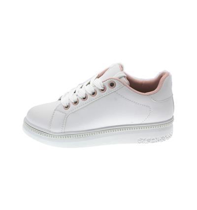 595746f0f68 Sneakers Δίσολα με ροζ λεπτομέρεια και στράς ZX1007-OEM-ΛΕΥΚΟ-40