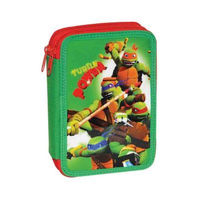 2ec679ce3b2 Κασετίνα Διπλή Ninja Power Turtle GIM 334-08100