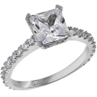 Λευκόχρυσο μονόπετρο Κ14 με πέτρες ζιργκόν 028868 028868 Χρυσός 14 Καράτια 686d1ec9e2a