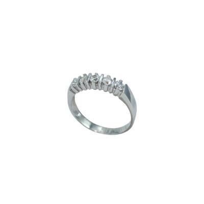 Γυναικείο Δακτυλίδι 14Κ σειρέ λευκός Χρυσός με λευκά ζιργκόν 3bc4d667243