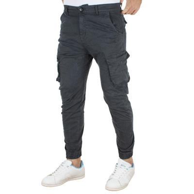 3b5b5ed1dcc6 Ανδρικό Παντελόνι Chinos Cargo με Λάστιχα Back2jeans army W18 Cement Γκρι