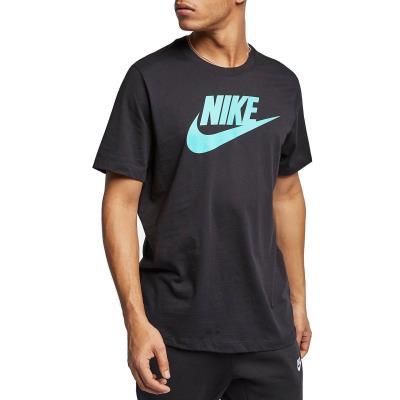 91b403f4a Nike Sportswear Tee Icon Futura - Ανδρικό T-shirt AR5004-011 - BLACK/HYPER  JADE