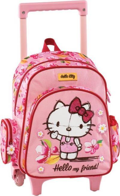 e4960d02c8 Τσάντα σχολική νηπίου τρόλλεϋ ροζ Hello Kitty 178261 GRAFFITI (178261)