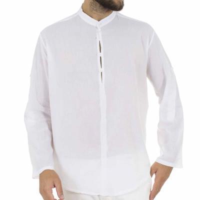 c9b0ebfb0644 Ανδρικό Μάο Πουκαμίσα-Μπλούζα FREE WAVE 71205 Λευκό