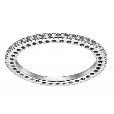 Υπέροχο ολόβερο δαχτυλίδι 14 καρατίων με ζιργκόν σε λευκόχρυσο DG317LBAR9 4ff643e3c54