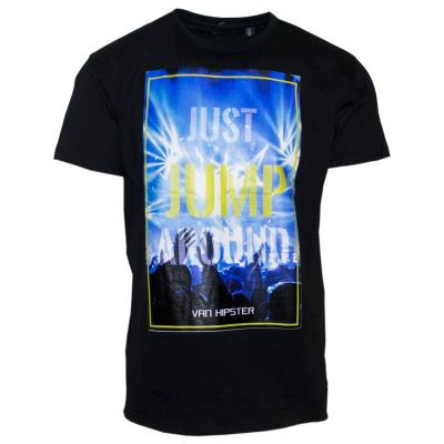 71363-01 Ανδρικό T-shirt με τύπωμα - μαύρο ef144d5f4ff