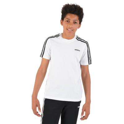 b410731f599 adidas Core Essentials 3-Stripes Kid's Tee - Παιδικό Μπλουζάκι DV1800 -  white/bl